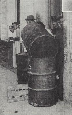 steel drum barricades