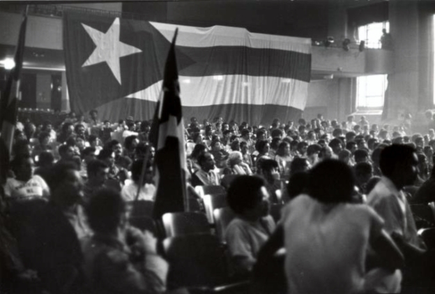 Political meeting at the University of Puerto Rico (Rio Piedras campus)