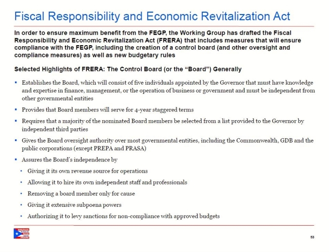 Fiscal Responsibility & Economic Revitalization Act